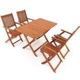 Набор деревянной садовой мебели стол 4 стулья Раскладная Польша. Н.