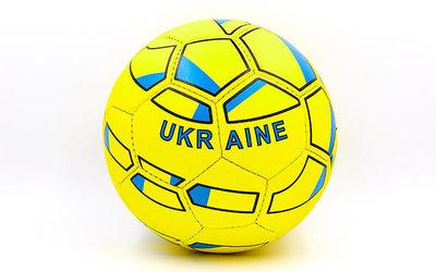 Мяч футбольный 5 гриппи Ukraine 0047-766 PVC, сшит вручную