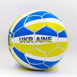 Мяч футбольный 5 гриппи Ukraine 0047-784 PVC, сшит вручную