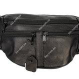 Мужская сумка - бананка из натуральной кожи 903ч