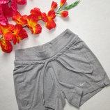 Фирменные трикотажные спортвные стрейчевые шорты серый меланж Nike the Athletic Dept.