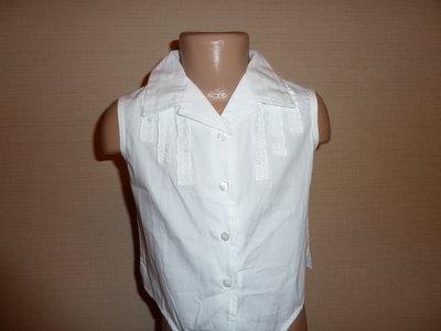 Новая белая рубашка , белая блука Adams на 7 лет , 100% хлопок длина 32 см по боковому шву, ширина 3