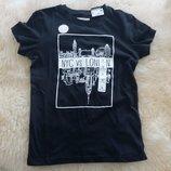 Детская футболка in extenso, 7-8 лет, черная, новая