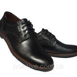 Туфли мужские кожаные на шнурках Riccone три цвета