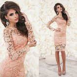 Хит модное гипюровое женское платье нарядное