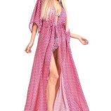 Пляжное платье накидка халат 804516ха