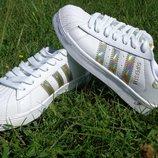Женские кроссовки Adidas Superstar Hologram золото , акция