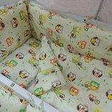 Детский постельный набор в кроватку 8 предметов Совята