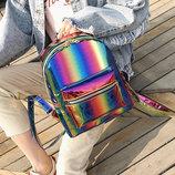 Модный голографический рюкзак радуга В Наличии