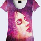 3D футболки для ярких девушекБольшой выбор