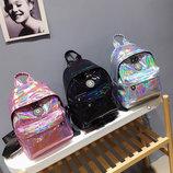 Голографический рюкзак для модных девушек В Наличии