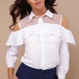 Женская блуза черная и белая стильная