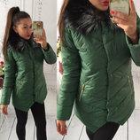 Куртка Зеленый, черный, белый, красный 411ом