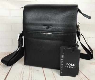 Небольшая мужская сумка - планшет Polo с ручкой.Мужская барсетка. Размер 22 17,5 см Кс63