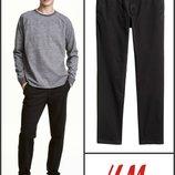 Черные брюки чинос slim fit размер 34, 36 от h&m