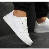 Женские кроссовки adidas stan smith, белые , кожа