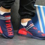 Кроссовки Adidas NMD Human Race,синие с красным