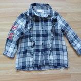 Фирменная блузка F&F малышке 1-1,5 года состояние отличное