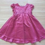 Фирменное нарядное платье M&S малышке 1-1,5 года состояние нового