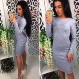 Ангоровое женское миди платье 4 цвета