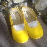 Желтые чешки, все размеры 12-26см в наличии