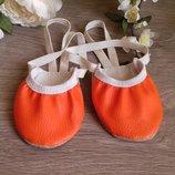 Полу чешки, пальчики от 12см до 27см, оранжевого цвета