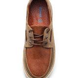 Детские кожаные топ сайдеры кеды туфли для мальчика 26 27 28 29 30 31 32 33 34 35 36 коричневый