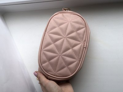 Женская сумка на пояс, бананка pink
