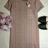 Платье в полоску selected 10 размер