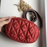 Женская сумка на пояс, бананка red