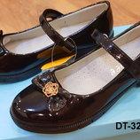 Школьные классические детские туфли на каблучке для девочки 32 - 37 рр