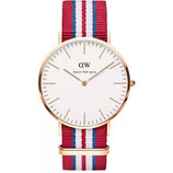 Часы Daniel Wellington красно-сине-белый ремешок