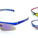 Велоочки солнцезащитные 1207 спортивные очки 3 цвета