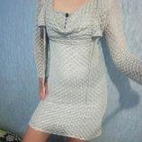 Комплект красивое платье болеро р 42-44