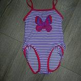 Германия Фиолетовый купальник на девочку 104 см, новый