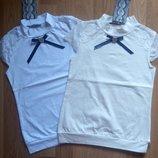 Школьная трикотажная блузочка, футболка для девочек