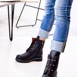 Женские натуральные ботиночки Болты, деми