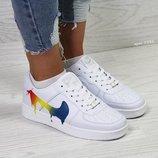 Nike Air Force кроссовки белые 5542