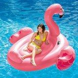 Надувной плотик Мега Фламинго с ручками 56288 размер 218х211х136см
