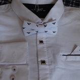 70da2e4f2f6 Рубашка белая ARMANI c бабочкой