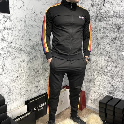 Спортивный костюм Balenciaga Sport Suit Rainbow Black
