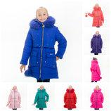 Зимняя куртка для девочки Николь 110-146