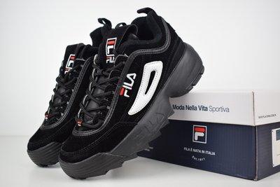 Кроссовки женские замш Fila Disruptor 2 black  1290 грн - кроссовки ... bcc95cbea89
