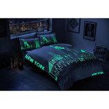 Постельное белье Tac сатин Glow New York светящаяяся постель сатин нью йорк