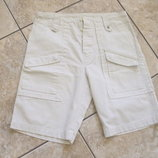 Новые шорты карго плотные тертые светло-кремовые W32-34 DIESEL