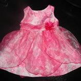 шикарное нарядное платье Youngland 1.5-2 года состояние отл.как новенькое