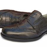 Кожаные туфли оксфорды для мальчика 34,35,37р Натуральная кожа школа