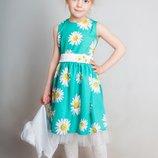 Платье нарядное Ромашка на Девочку 3-6 лет в Отличном состоянии
