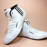 Кроссовки женские, высокие, белые, для бега и тренировок. Размер 39-41