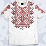 Детская футболка 3D Белая вышиванка Большой выбор